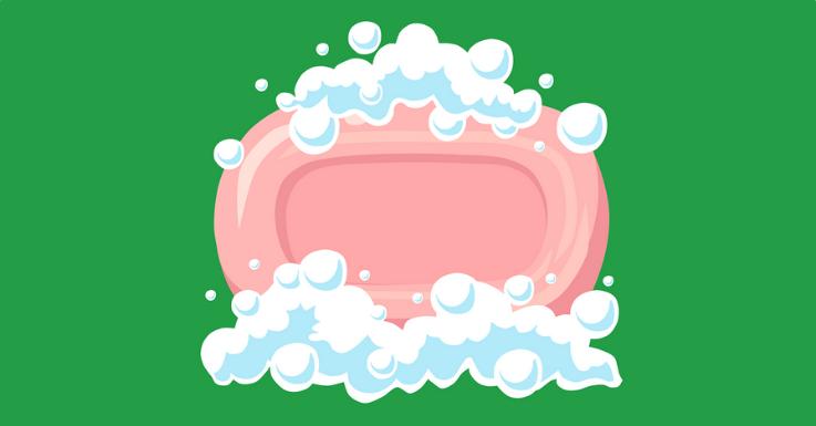 Die gute alte Seife: äußerst unbeliebt bei Keimen, Bakterien und Viren.