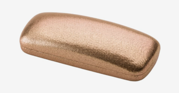 So schön wie eine Schmuckschatulle: Brillenetui in edel anmutendem Goldton