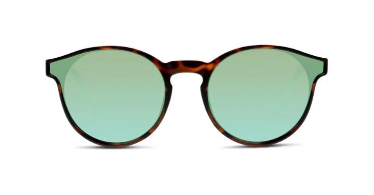 Ungewöhnliche Interpretation der Panto-Brille mit türkisfarbenen Gläsern: Sonnenbrille von SEEN