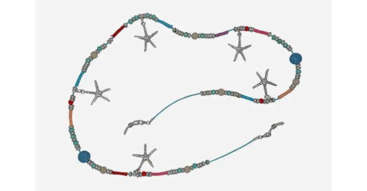 Beim Auspacken musst du eventuell kurz erklären, dass es sich nicht um eine Halskette handelt: Dieses Brillenkettchen macht jedem Schmuck schwer Konkurrenz