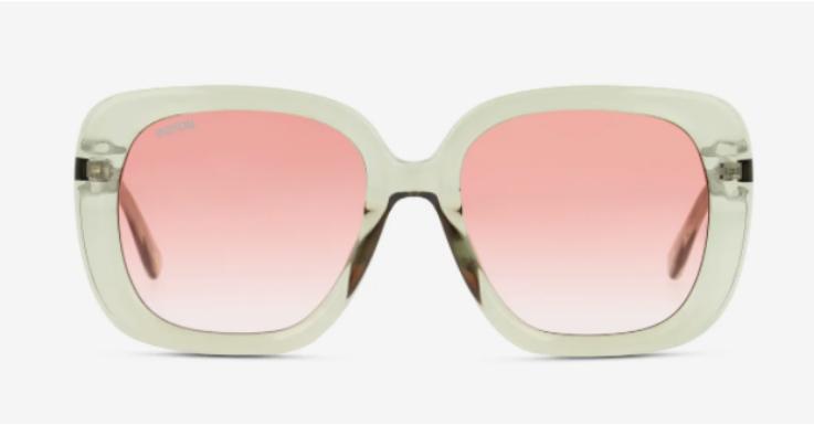 Die Farbkombination ist so luftig-leicht wie der Sommer. Glamour trifft auf Lässigkeit – Sonnenbrille von Unofficial