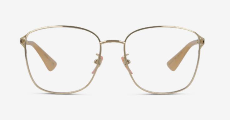 Ungewöhnliche Farbverläufe machen diese Gucci-Brillenfassung zum Statement