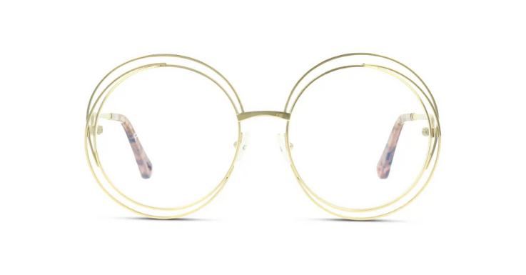 Gold, Doppelrahmen, Oversize: Mehr ist mehr bei diesem Brillen-Traum von Chloé
