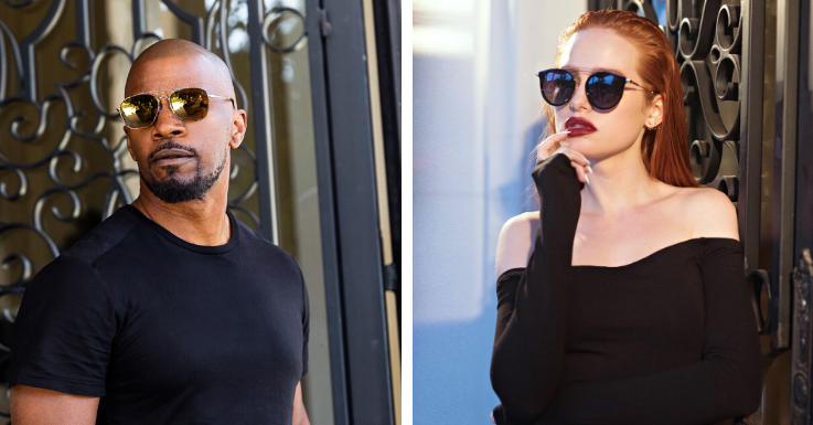 Jamie Foxx in The Floridian (EAN: 0810036102032). Rechts: Madelaine Petsch in The Rogue (EAN: 0818893022654).