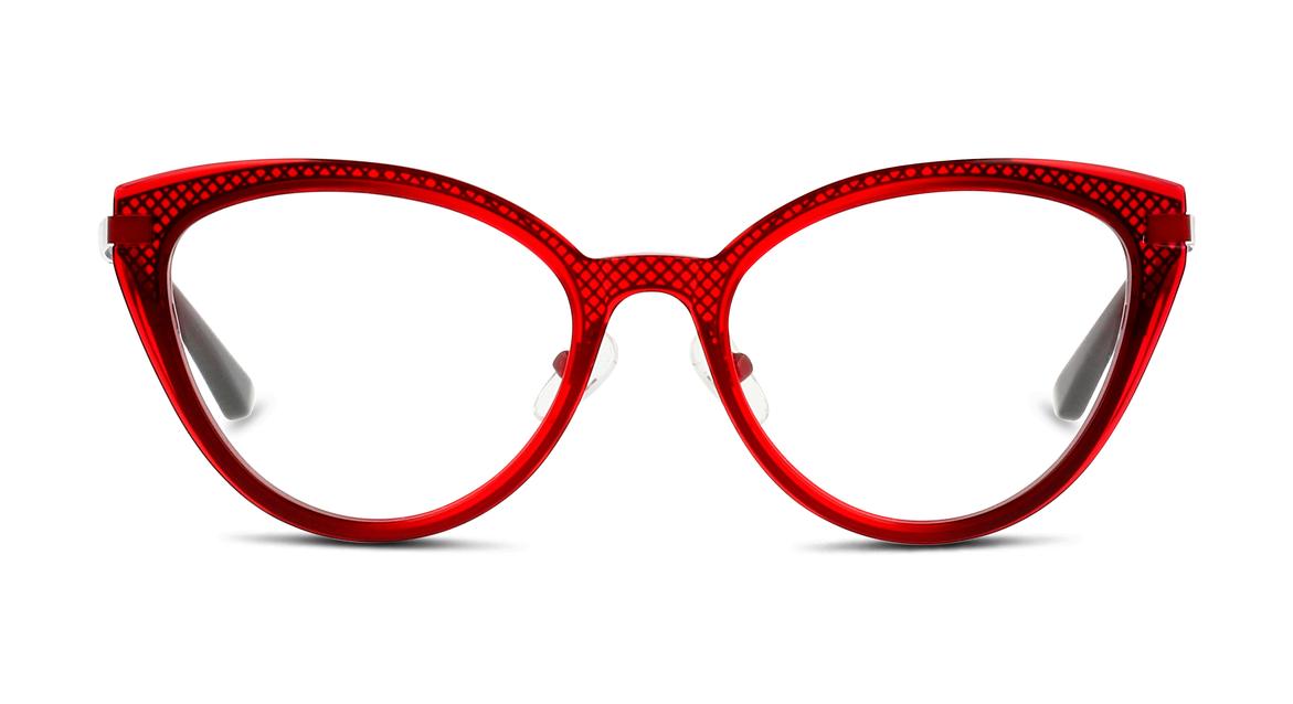 WOW! Cat-Eye-Fassung in festlichem Rot mit Gittermuster von FUZION (EAN: 8719154319495)