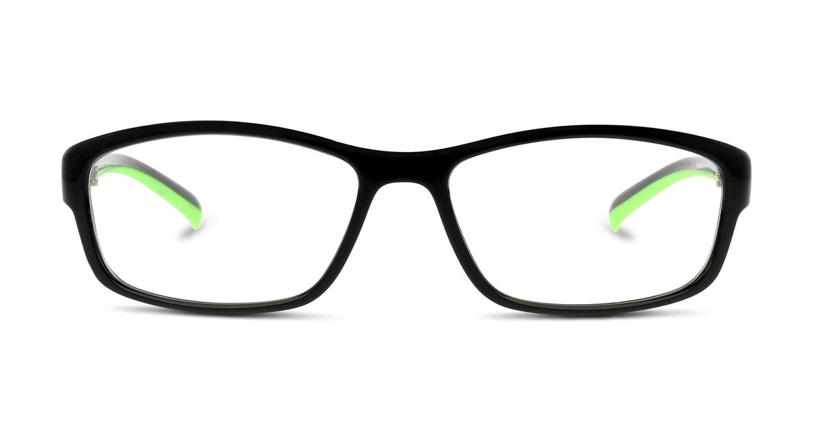 Bei dieser Herren-Fassung von activ dreht sich alles um die neongrünen Brillenbügel
