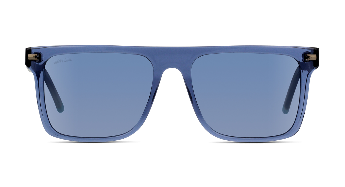 Diese Herren-Sonnenbrille von UNOFFICIAL überzeugt durch außergewöhnliche Form und Farbe.