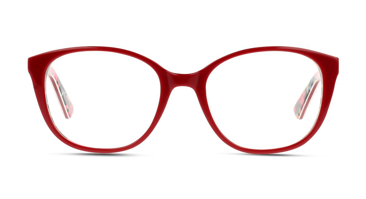 Bunte Bügel, rote Fassung: Mit dieser Damen-Fassung von MIKI NINN übersieht dich bestimmt niemand