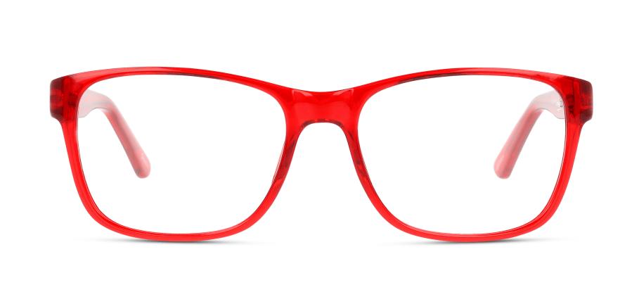 Tatü Tata, die Feuerwehr ist da? Im Gegenteil: Diese Brille eignet sich besonders gut als Farbtupfer zu dezenten Looks.