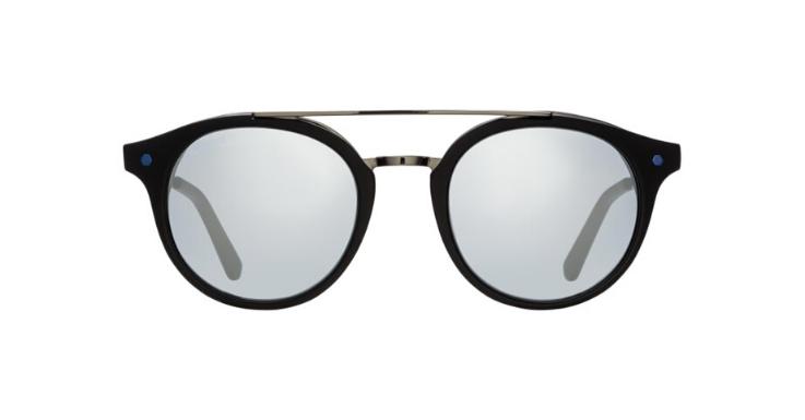 Auch die Panto-Form funktioniert mit Doppelsteg: Unisex-Sonnenbrille von IN STYLE