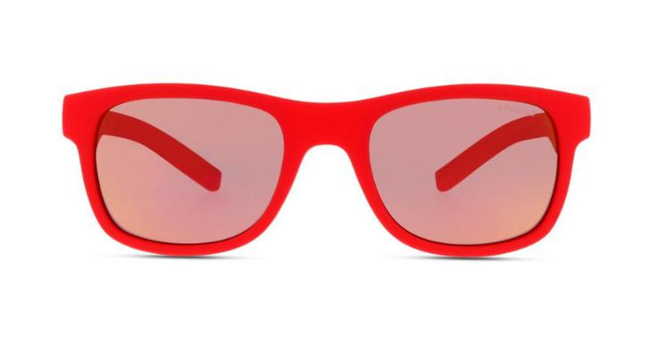 Damit wird man garantiert nicht übersehen: Polarisierte Sonnenbrille in Signalrot von Polaroid (EAN: 0716736052786).
