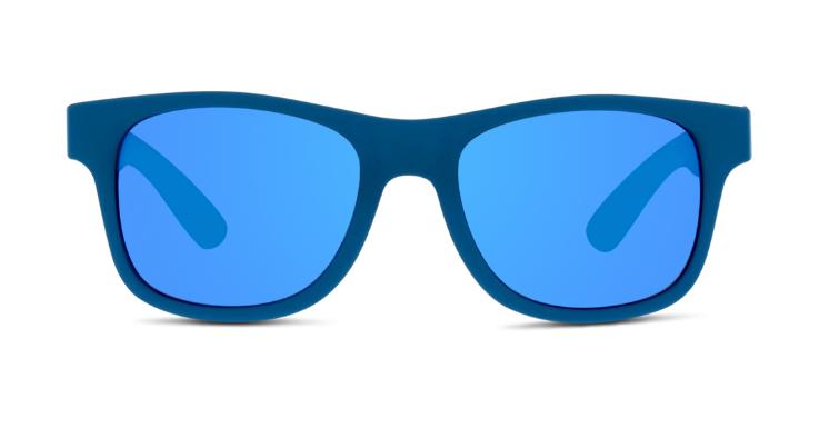 Die blau verspiegelten Gläser sorgen für Coolness, die robuste Verarbeitung sorgt für Sicherheit: Sonnenbrille von Solaris (EAN: 8719154029332).