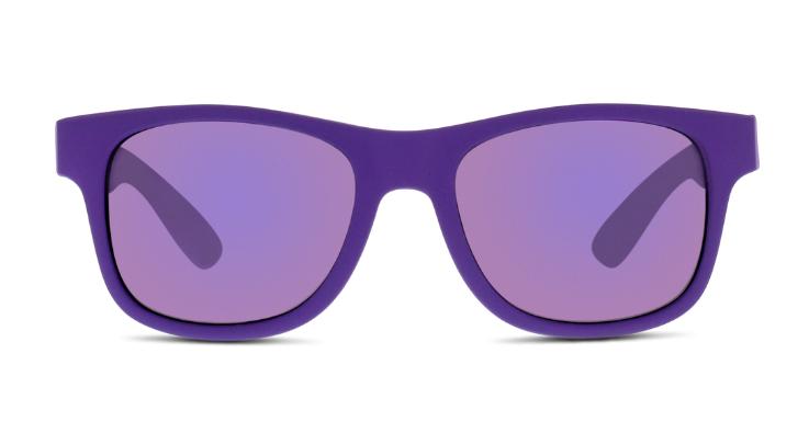 Leuchtendes Allover-Lila und softer Kunststoff: Diese Sonnenbrille von Solaris (EAN: 8719154029356) sorgt für einen Farbklecks am Pool.