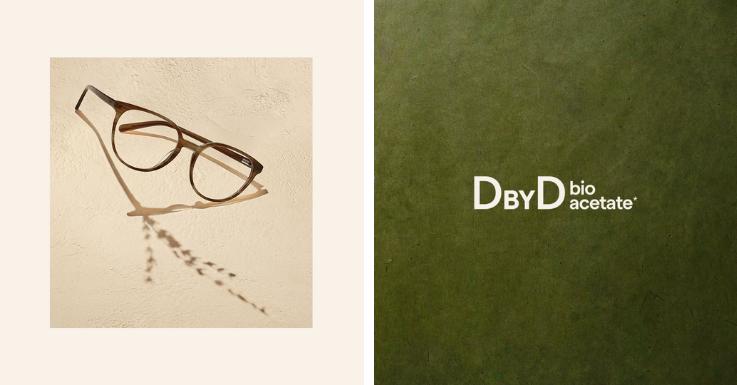 Klassische Form, spannende Farbverläufe, nachhaltige Materialien: Volle Punktzahl für diese Brillenfassung von DbyD