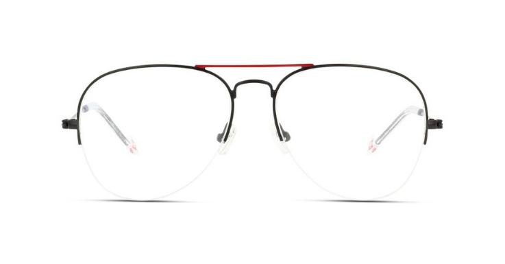 Aviatorform, Halbrand, farblich abgesetzter Doppelsteg: Diese Brillenfassung für Herren von IN STYLE vereint gleich mehrere Trends