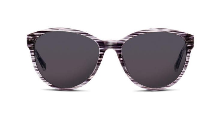 Nichts für Schwarz-Weiß-Denker: Sonnenbrille von Seen für Damen mit originellem Muster in Schwarz-Weiß