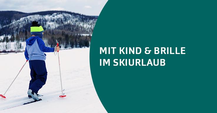 Kinder, Brille und Skiurlaub