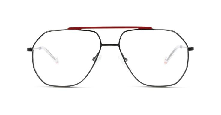 Aviator 2.0: Eckige Interpretation der Pilotenbrille aus Metall mit farblich abgesetztem Doppelsteg für Herren von UNOFFICIAL