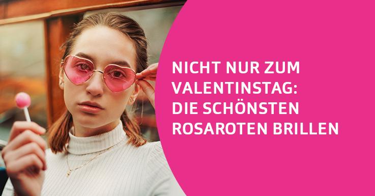Frau rosa Sonnenbrille