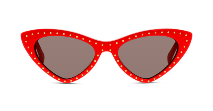 Oh là là: Diese Sonnenbrille von Moschino ist ein knallroter Cat-Eye-Traum