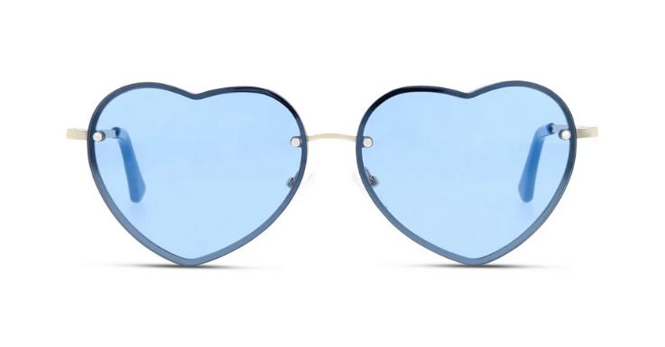 Die Welt braucht mehr Liebe: Herz-Brille in blauer Variante von SEEN