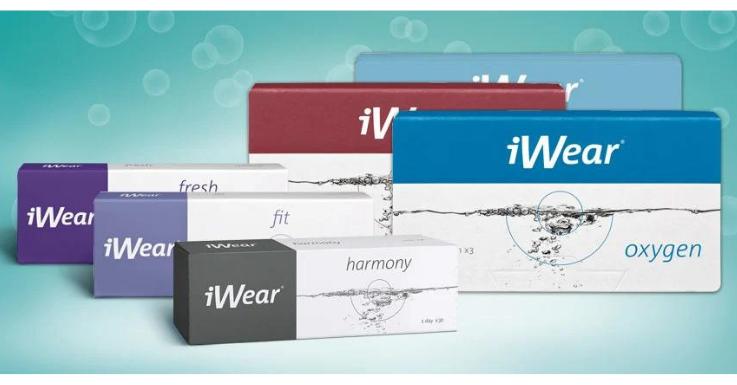 Für alle etwas dabei: Ein Ausschnitt aus dem iWear®-Kontaktlinsensortiment.