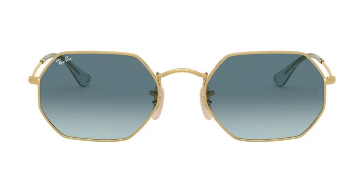 Oktagonale Sonnenbrille von Ray-Ban mit futuristischem Touch