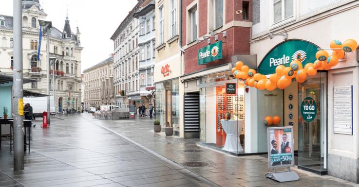 Die Lehrlingsfiliale in Graz am Hauptplatz 8.