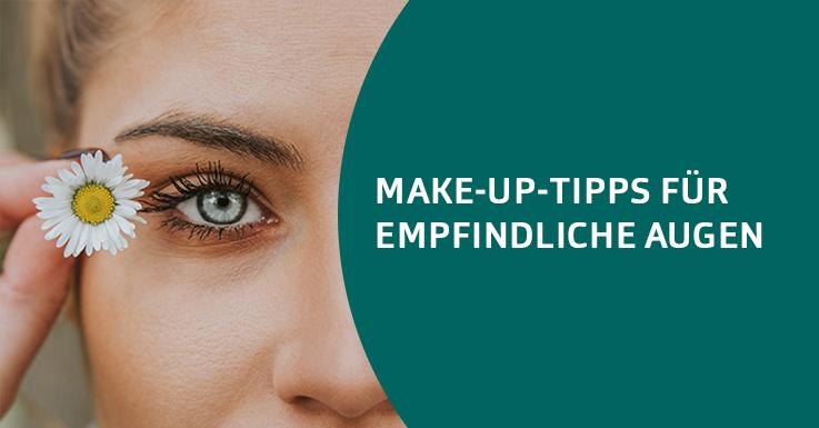 Augen-Make-up und empflindliche Augen