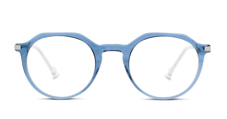 Eine perfekte Verbindung von Blau und Silber: Brillenfassung von IN STYLE
