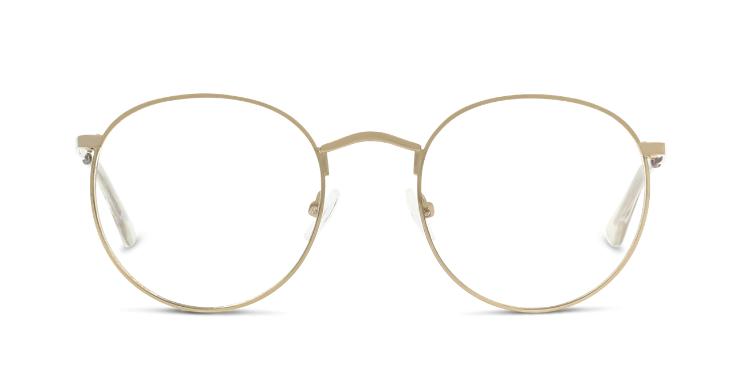 Auffällig und dennoch dezent: Runde Brillenfassung in Gold von Seen