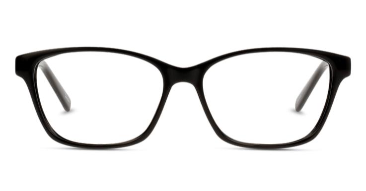 Schwarzes Modell mit dezent geschwungenen Rändern: Brillenfassung von Seen