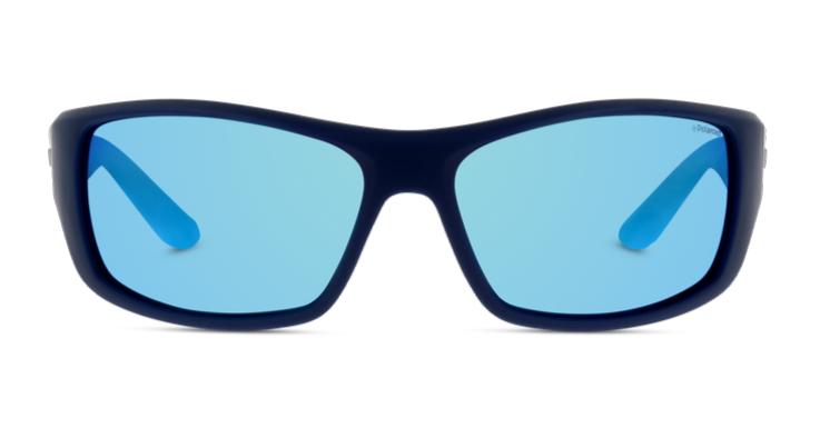 Sportlicher Style für Großstadthelden: Sonnenbrille für Herren mit blauen Gläsern von Polaroid