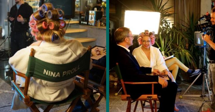 Sie ist der Star am Set – auch im Bademantel: Nina Proll