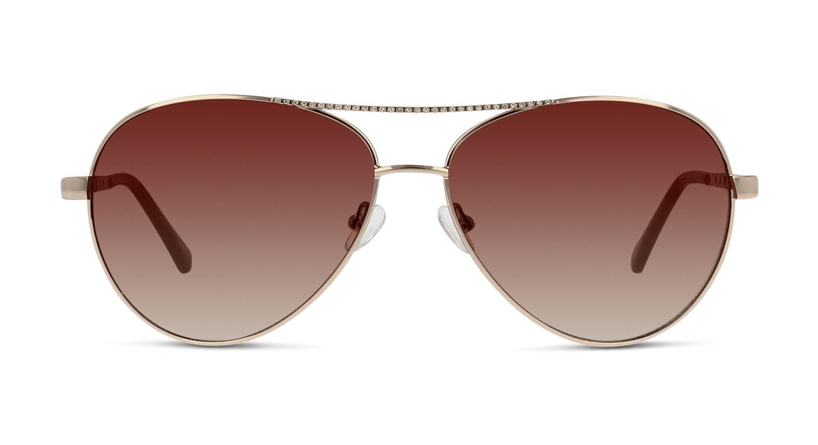 Leicht geschwungene Pilotenbrille für Damen von Seen mit verziertem Doppelsteg.