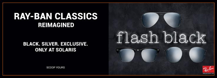 Exklusiv bei Pearle: Ray-Ban flash black