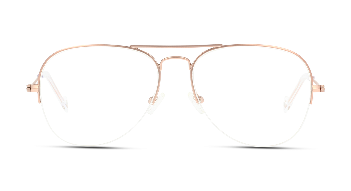 Klassiker mit Twist: Roségoldene Halbrand-Pilotenbrille für reiselustige Ladys von IN STYLE