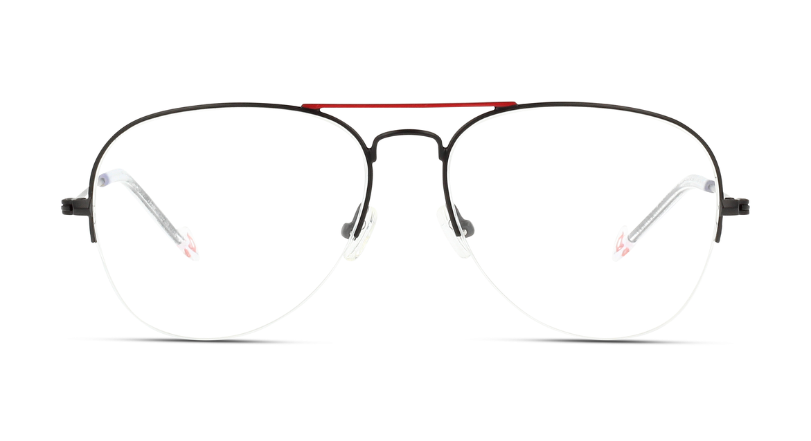 Eyecatcher dieser modernen Pilotenbrille für Herren von IN STYLE ist der rote obere Doppelsteg