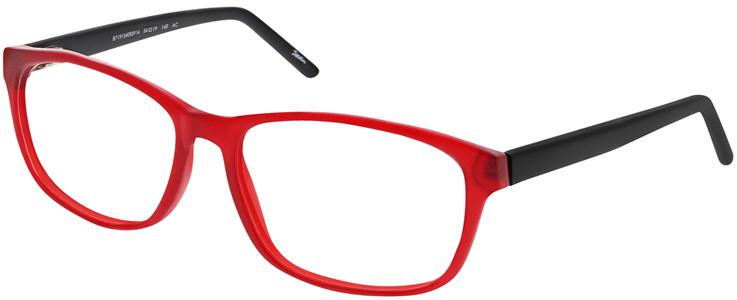 Rote Brillenfassung mit schwarzen Bügeln von Seen // 133730