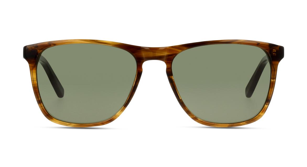 Bei dieser Sonnenbrille für Herren von C-line wird eine andere Sixties-Form aufgegriffen und mit marmoriertem Rahmen und grünen Gläsern upgedatet.